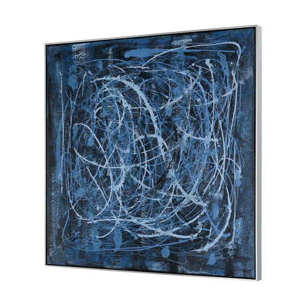 Acrylic Blue Rhythm Framed Wall Art, image 2