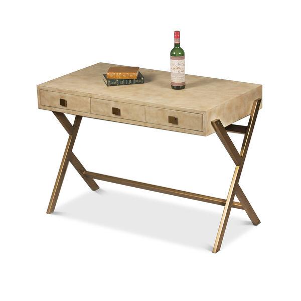 Beige Stuart Leather Desk, image 1