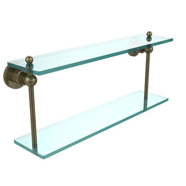 Antique Brass 22-Inch Double Shelf , image 1