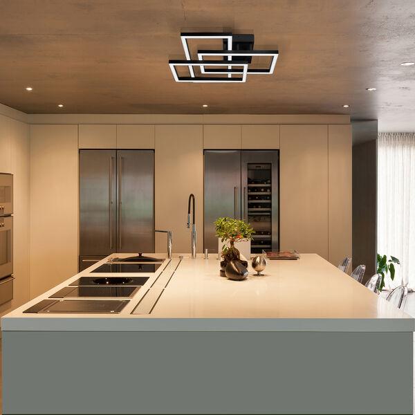Radium Black 28-Inch LED Semi Flush Mount, image 5
