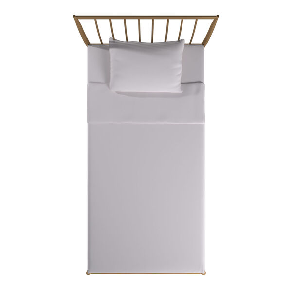 Kennedy Gold Twin Metal Spindle Bed, image 5