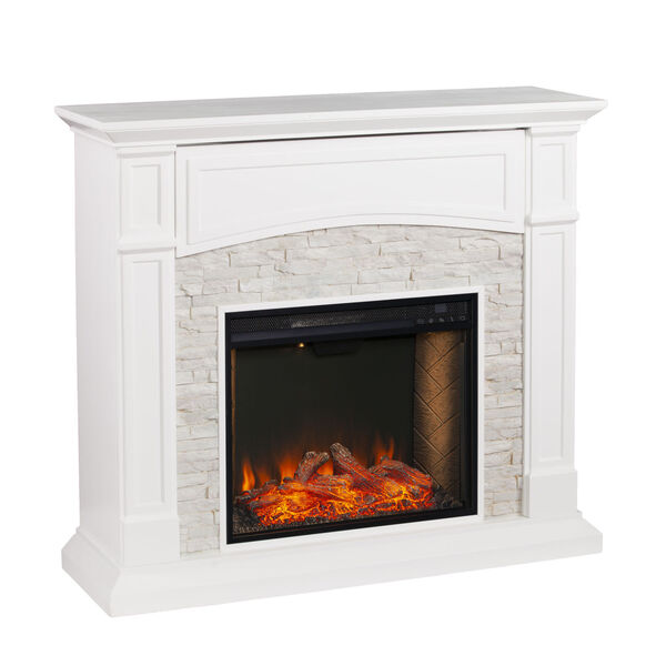 Seneca Crisp White Smart Media Electric Fireplace, image 2