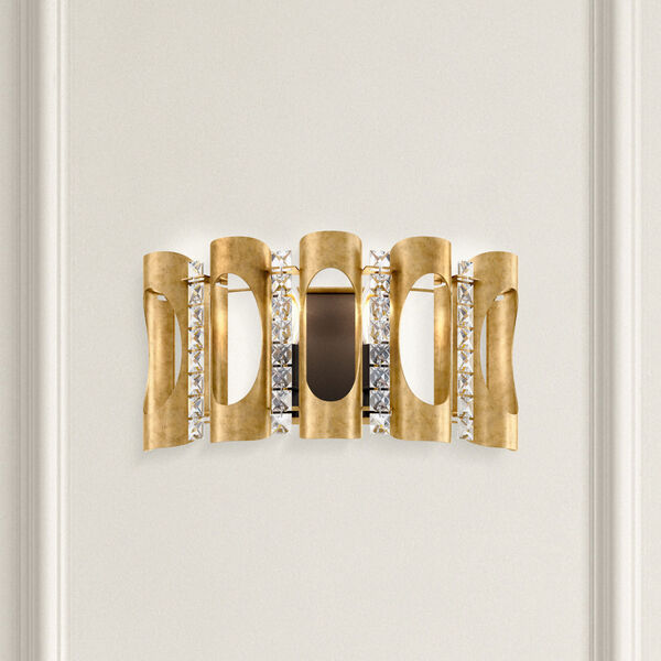 Twilight Heirloom Gold Two-Light Wall Sconce with Clear Heritage Crystal, image 2