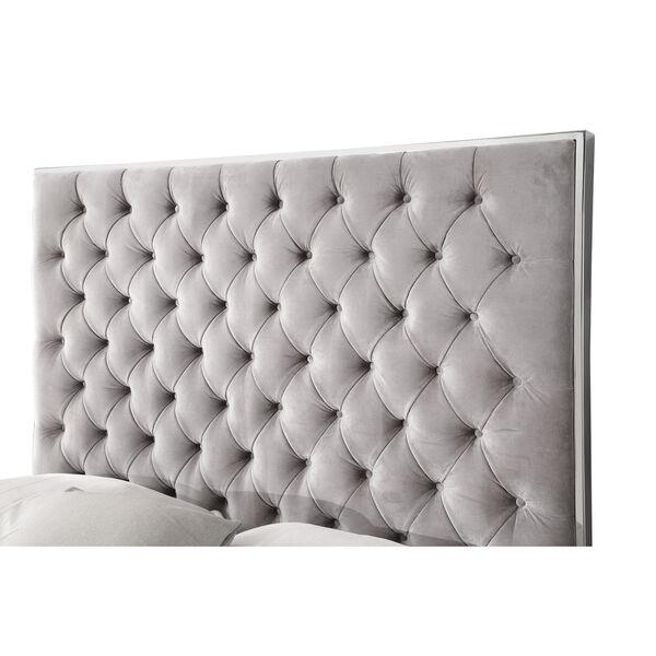 Vivian Cal. King Silver Gray Cal King Upholstered Bed, image 5