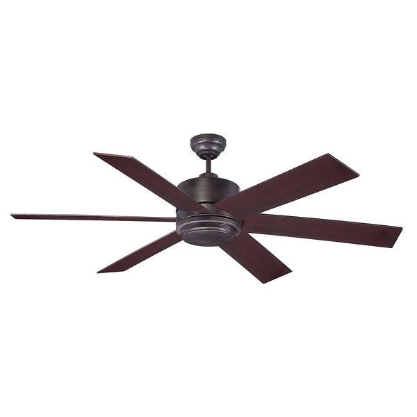 Afton Bronze 60-Inch One-Light Ceiling Fan, image 2