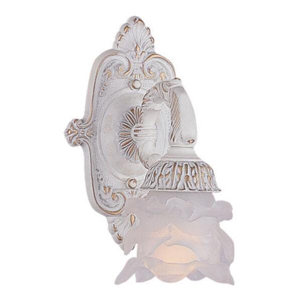 Paris Flea Antique White One-Light Sconce, image 1
