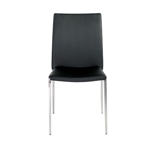 Diana Black 18-Inch Stacking Side Chair, Set of 4, image 1
