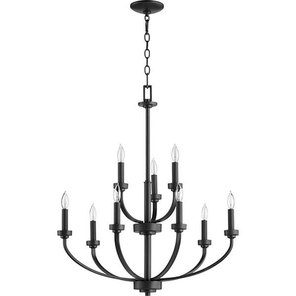 Mansfield Black Nine-Light Chandelier, image 1