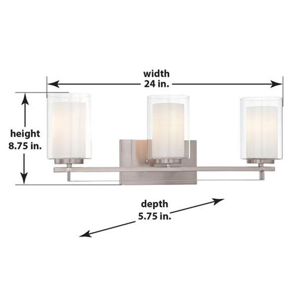 Harrow Brushed Nickel Three-Light Vanity - (Open Box), image 7