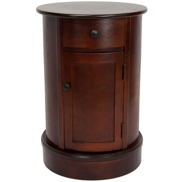 26 Inch Classic Oval Design Nightstand Cherry, Width - 17.5 Inches, image 1