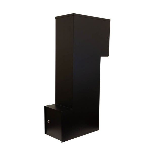 Manchester Black Security Option with Decorative Scroll Door Manchester Faceplate - (Open Box), image 7