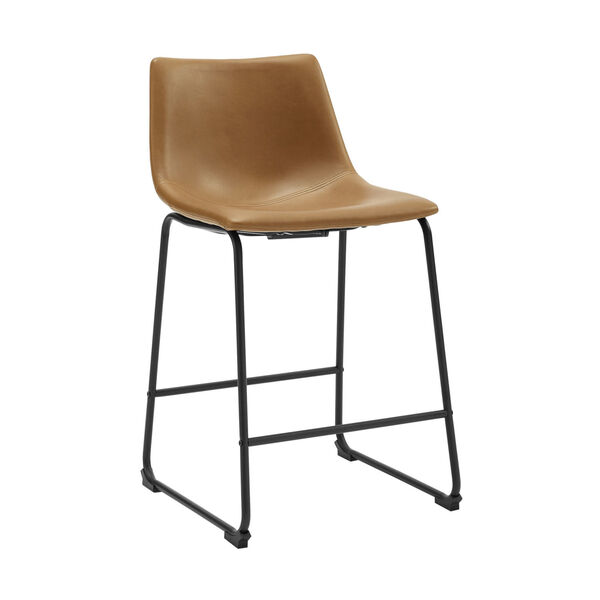 Whiskey Brown Counter Stool, set of 2, image 3
