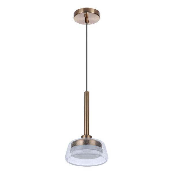 Centric Satin Brass LED Mini Pendant, image 1