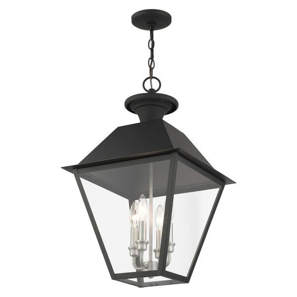 Mansfield Black Four-Light Outdoor Pendant, image 4
