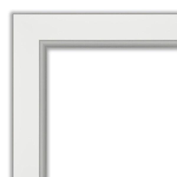 Eva White and Silver 29W X 65H-Inch Full Length Floor Leaner Mirror, image 2