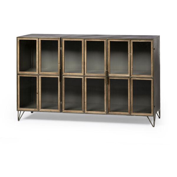 Pandora II Brown Door Display Cabinet, image 1