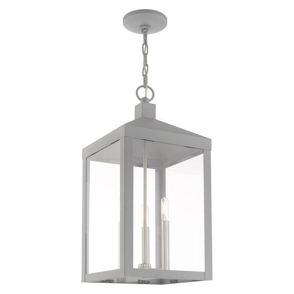Nyack Nordic Gray 11-Inch Three-Light Pendant Lantern, image 5