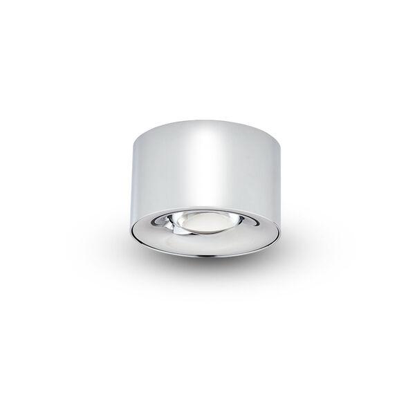 Node Polished Chrome 8W Round LED Flush Mounted Downlight, image 1