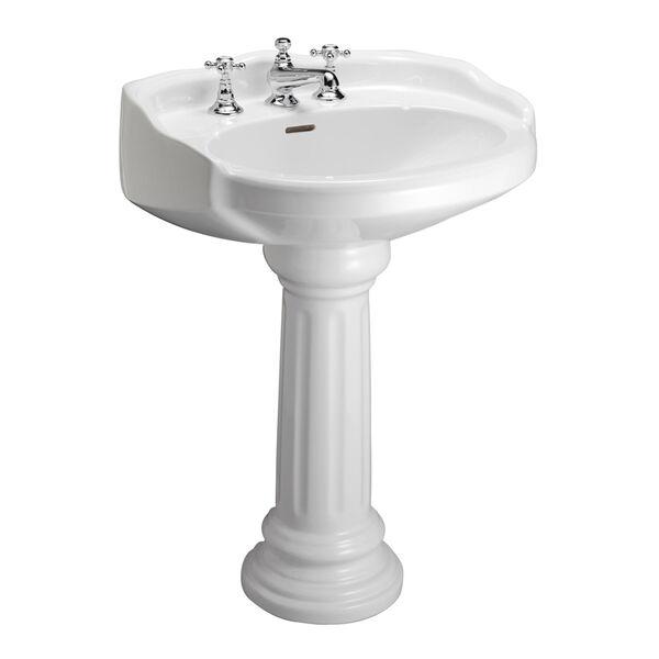 Vicki White 4-Inch Spread Pedestal Sink, image 1