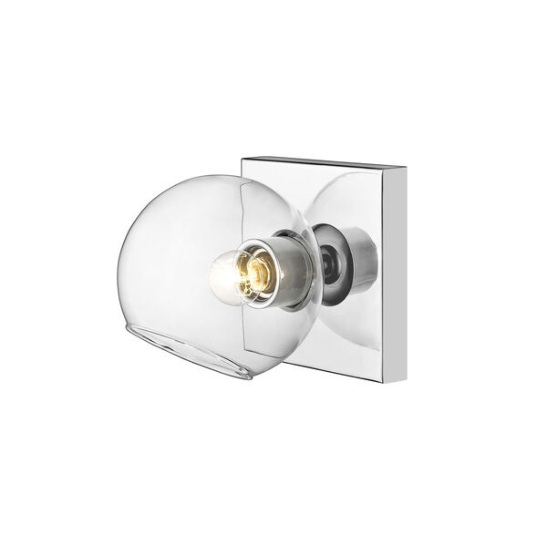 Marquee Chrome One-Light Bath Sconce, image 2