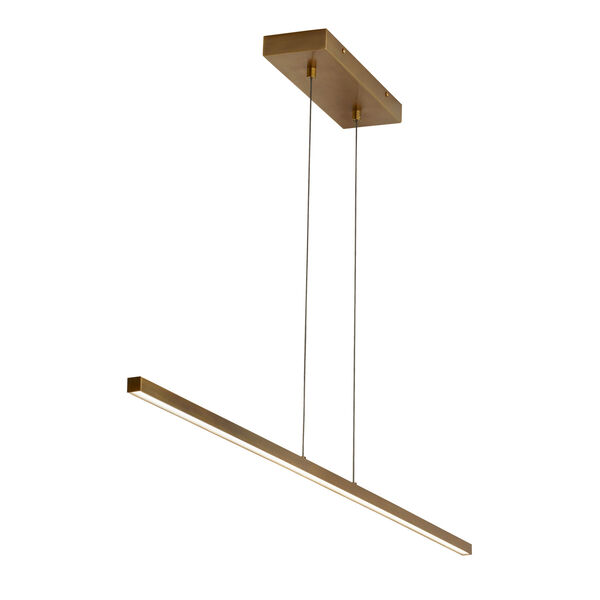 Essence Aged Brass 1-Inch LED Linear Pendant, image 1