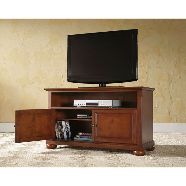 Alexandria 42-Inch TV Stand in Classic Cherry Finish, image 4