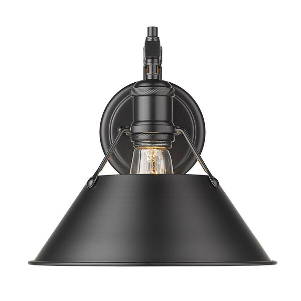 Orwell Matte Black 10-Inch One-Light Wall Sconce, image 1