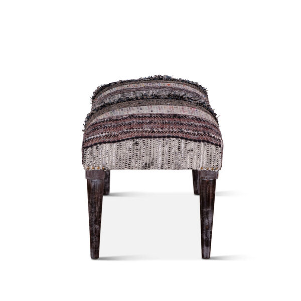 Algiers Gray and Black Accent Bench, image 4