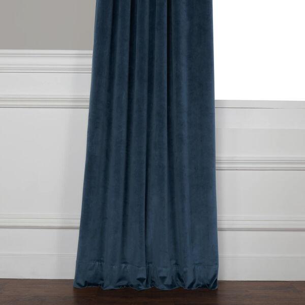 Blue 108 x 50 In. Plush Velvet Curtain Single Panel, image 10