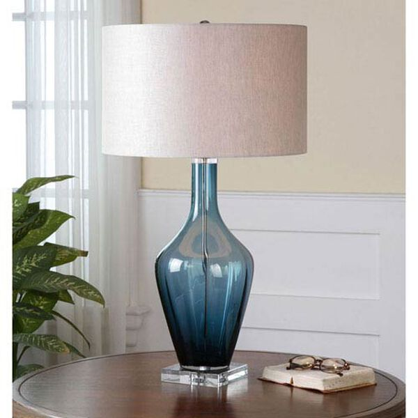 Aura Blue Glass Table Lamp, image 2