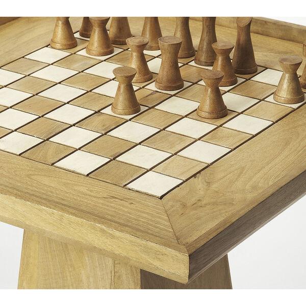 Butler Loft Levon Natural Mango Chess Game Table, image 3