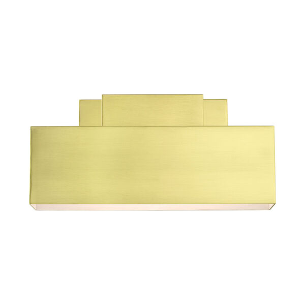 Lynx Satin Brass Two-Light Outdoor ADA Wall Sconce, image 3