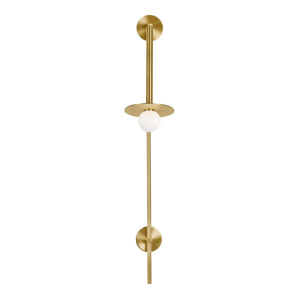Nodes Burnished Brass 8-Inch One-Light Wall Sconce, image 1