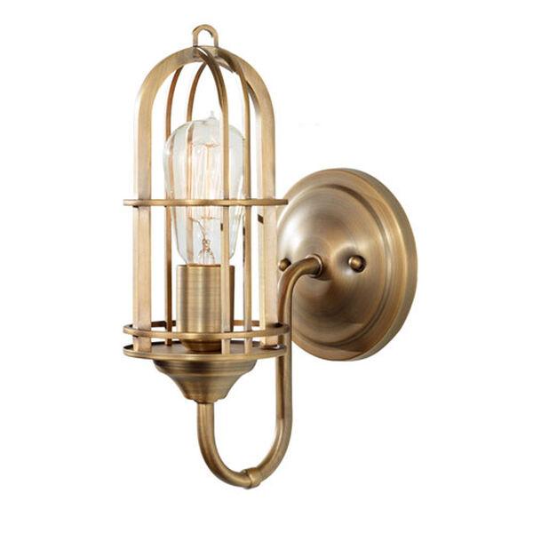 Caleb Antique Brass One-Light Bath Sconce, image 1