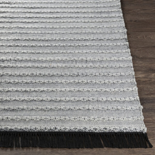 Azalea Black, Silver Gray and White Rectangular  Rug, image 3