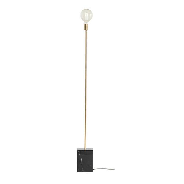 Slim Brushed Brass One-Light Floor Lamp, image 2