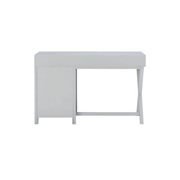 Max Gray Silver Desk, image 5