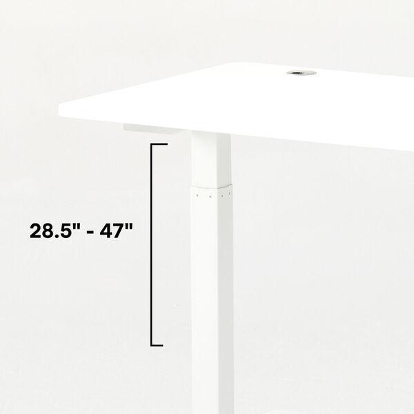 Autonomous White Frame Black Classic Top Adjustable Height Standing Desk, image 5