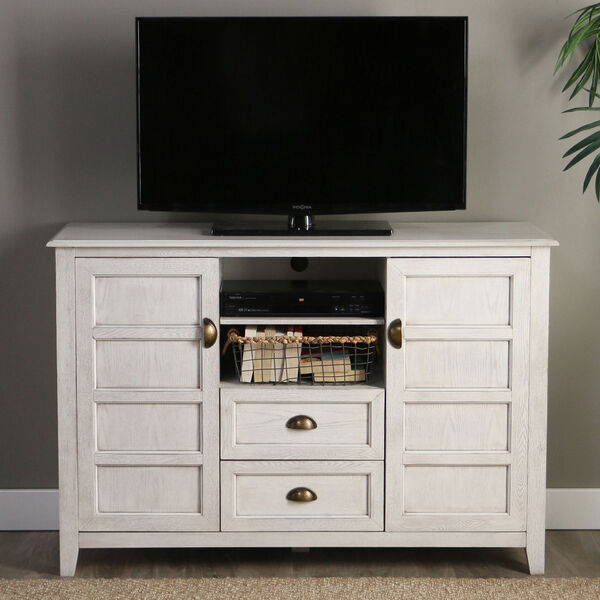 Angelo HOME 52-Inch Rustic Chic TV Console - White Wash, image 1