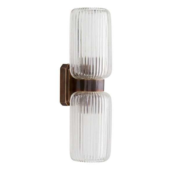 Tamber Heritage Brass Two-Light Wall Sconce, image 5