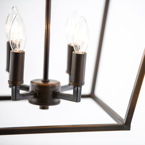 Kenwood Rubbed Bronze Four-Light Lantern Pendant, image 12