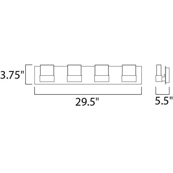 Fizz III Polished Chrome Eight-Light LED 30-Inch Bath Fixture, image 2