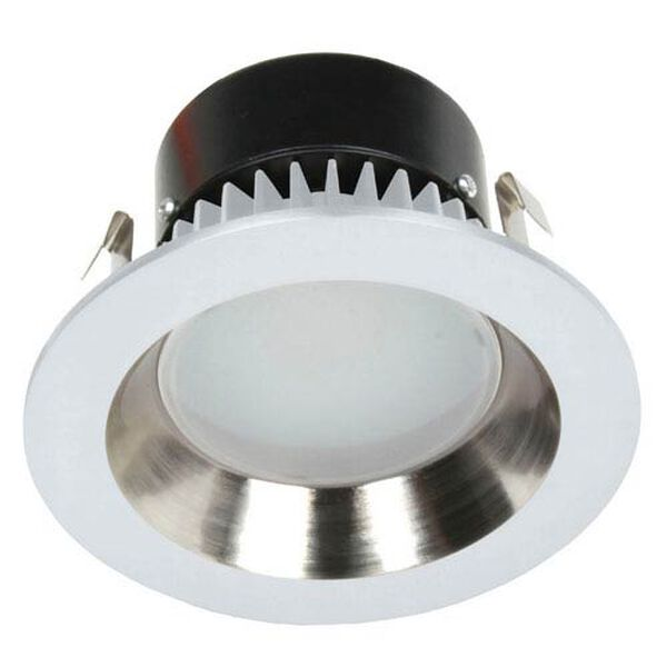 Recesso Satin Nickel and White LED Retrofit Module, image 1