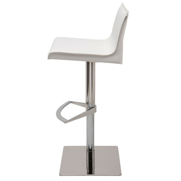 Colter White and Silver Adjustable Stool, image 3