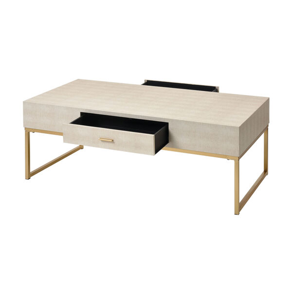 Les Revoires Cream with Gold Coffee Table, image 2