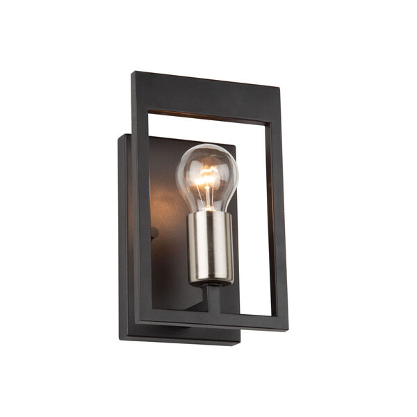 Sutherland Black and Brushed Nickel One-Light Wall Sconce, image 1