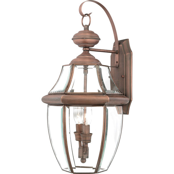 Newbury Aged Copper Large Outdoor Wall Mount, image 1