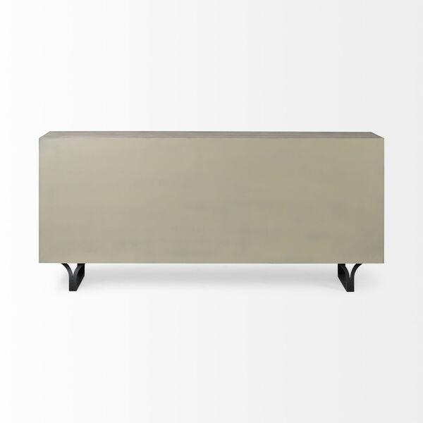 Giselle II Brown and Black Solid Wood Nine-Drawer Sideboard, image 4