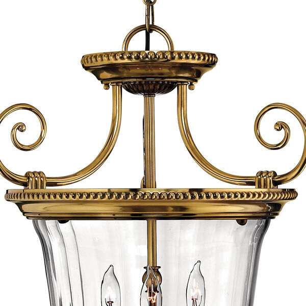 Oxford Small Burnished Brass Urn Pendant, image 2