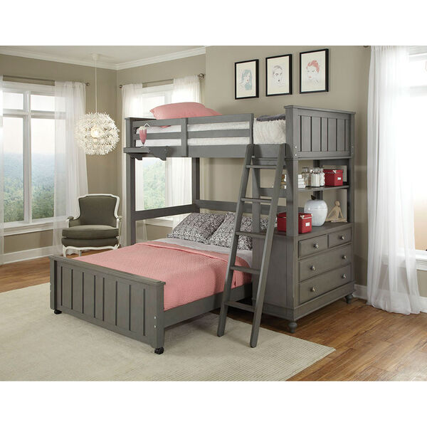 Lake House Stone Twin Loft with Full Lower Bed, image 1